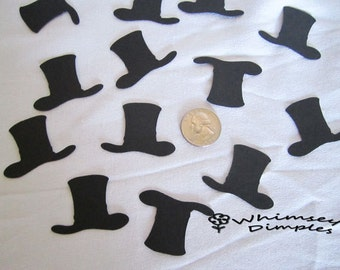 Top Hat Confetti, Little Mister, Steampunk Wedding, New Year, Snowman Hat, Table Sprinkles Magic Hat Whimsical Scrapbook Embellishment