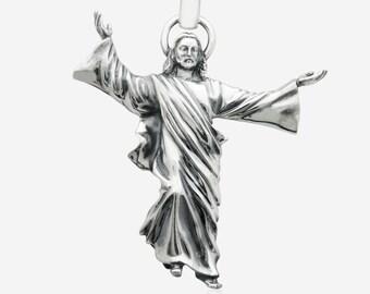 Sterling Silver Jesus Christ Pendant