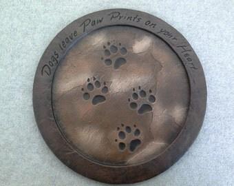Ceramic Dog  Stepping Stone (finished)