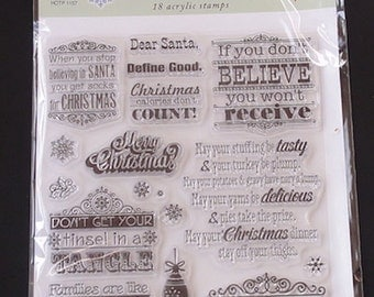Hot Off The Press - Naughty & Nice Stamp Set