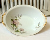 Oval Vegetable Bowl Seyei Fine China Peony Pattern Table Setting #2104