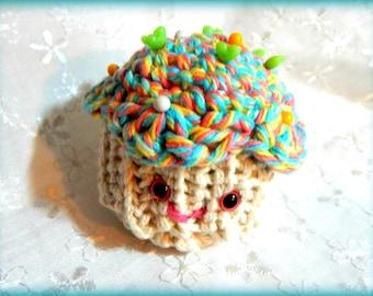 Cupcake Pattern, PDF Crocheted Cupcake Pattern, Amigurumi Pattern, Unique Cupcake Pattern, Downloadable Cupcake Pattern, Beginner Crochet