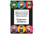Hogwarts Students Button Set Harry Potter Pins Pinback Buttons