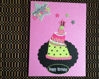 "Handmade Birthday Card ""Happy 16"" birthday card."