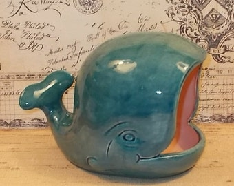 Large Whale Salt Pig Whale Scrubby Holder