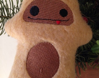 Bigfoot Sasquatch Embroidered Ornament