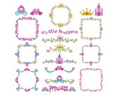 PRINCESS BORDERS - Machine Embroidery - Instant Digital Download
