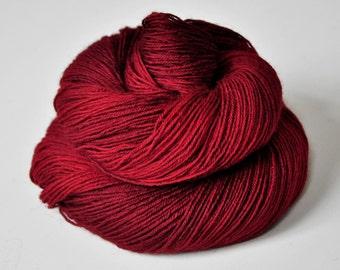 Red lips - BFL Sock Yarn Superwash