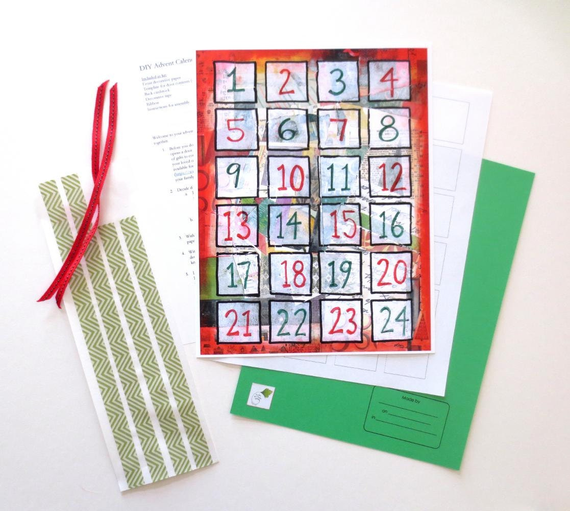 Advent Calendar Diy Kit : Diy advent calendar kit