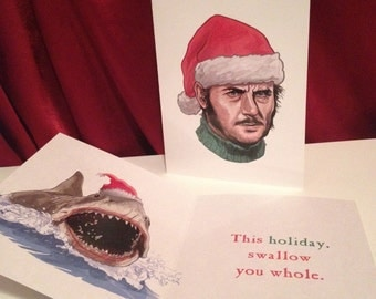 Quint Jaws Christmas Card
