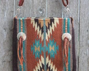 Woven Textile Handbag