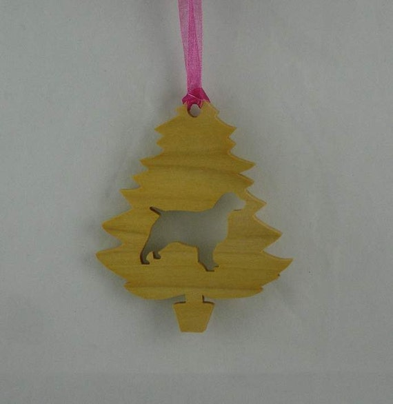 Spaniel Christmas Tree Ornament Handmade From Poplar Wood