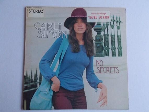 1972 Carly Simon No Secrets You're So Vain By OrbitOfNeptune