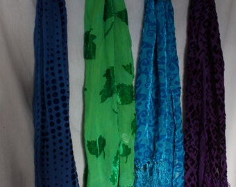 Silk Velvet scarf Choice
