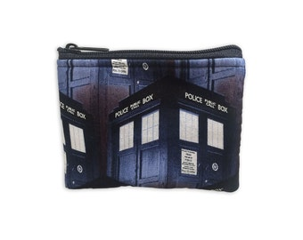 Doctor Who Coin Bag // Tardis