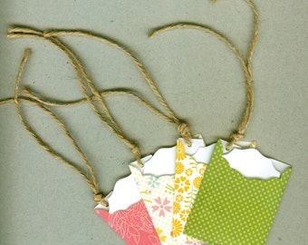 Spring Inspired Handmade Mini Tag Envelopes perfect for gifts, packaging and sentiments