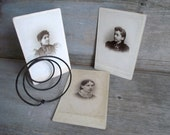 Antique Cabinet Card Photos / Portrait Photography / Victorian Women /  Set of 3 / Victorian Fashion / Assemblage Art / Vintage Supplies