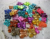 50 Flat Back Butterfly Rhinestones Acrylic Gems for Scrapbooking Cards Mini Albums and Papercrafts Jewelry DIY