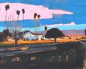 Santa Barbara Nocturne, California Landscape Painting