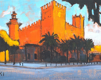 Castle of the 3 Dragons, Barcelona Painting