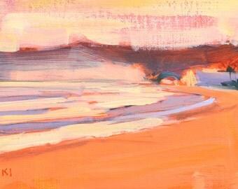 Sunset on Coronado Beach Landscape Painting
