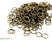 Bronze Jump Rings, 6mm Jump Rings, Bronze Color