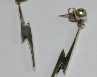 Sterling Silver Lightning Bolt earings Holiday sale regular price 49.00 sale price 30 .00