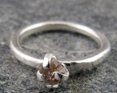 Rough Diamond Sterling Silver  Ring
