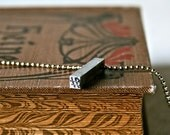 Hashtag Letterpress Pendant Drilled and Polished for Geekery Gift or Unisex Jewelry