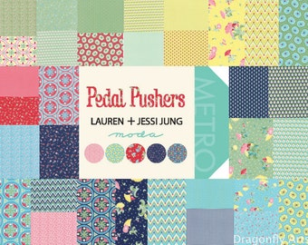 Moda Pedal Pushers Charm Pack by Lauren and Jessi Jung 25080PP New Release