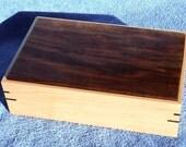 Maple and Walnut Tilt Top Box