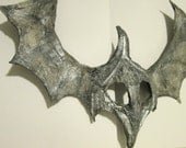one of a kind, Warrior, gargoyle, helmet mask, sculpted mask, Masquerade, Halloween Costume, grey and black, stonel look