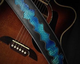 popular items for cool guitar straps on etsy. Black Bedroom Furniture Sets. Home Design Ideas