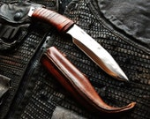 Custom Deluxe hand forged Tactical or Bushcraft knife made to order
