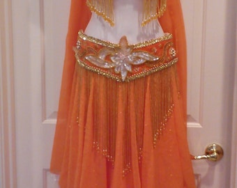Orange Professional Bellydance Cosutme