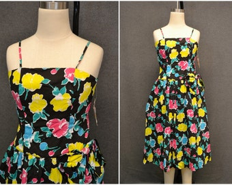 1980s-does-1950s Floral Sundress