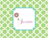 Monogrammed Laminated Placemat  FLOWER