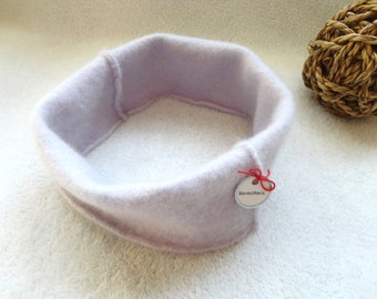 Eco Fashion Cashmere Headband Ear Warmer PALE LAVENDER Purple Earwarmer Head Band Upcycled Sweater Hair Accessory by WormeWoole