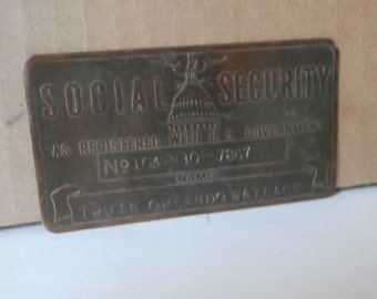 Copper SSAN Social Security Card