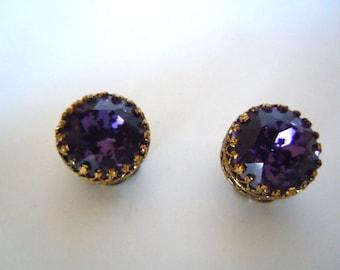 Austrian Crystal Clip On Earrings
