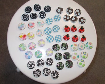 Handmade whimsical covered buttons