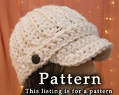 The Crochet Classic Newsboy Hat Pattern by Lady Baron