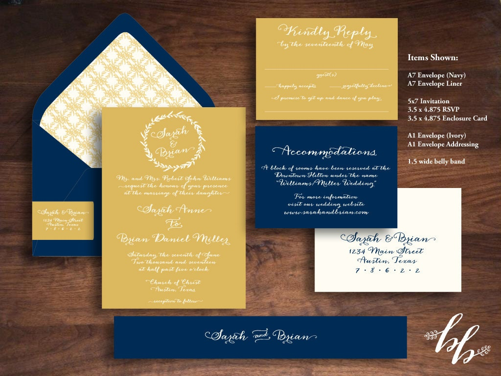 Wedding Invitations Recycled Paper: Sample: Golden Leaves Wedding Invitation