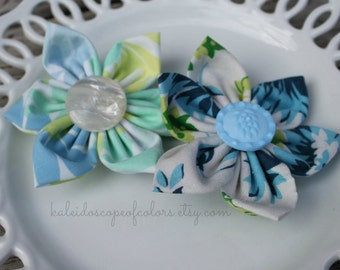 Fabric Flower Hair Clip Sets-Various
