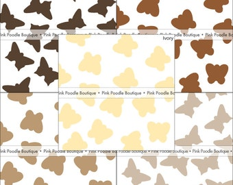 BUTTERFLY CONFETTI (100 pc) -- Dark/Chocolate, Brown, Kraft, Tan, Ivory/Cream