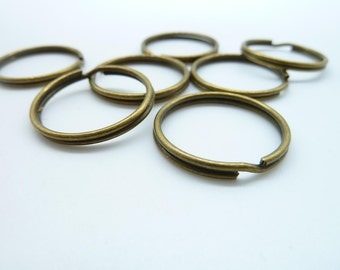 30pcs 25mm antique bronze keychains Circle Ring clasp C4491