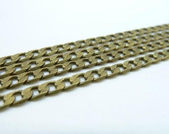 5meters  3.5mm Antique Bronze Brass  Flat Oval Chain E1022