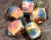 Set of 5 Lampwork Glass Beads