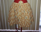 Skirt with fox pattern