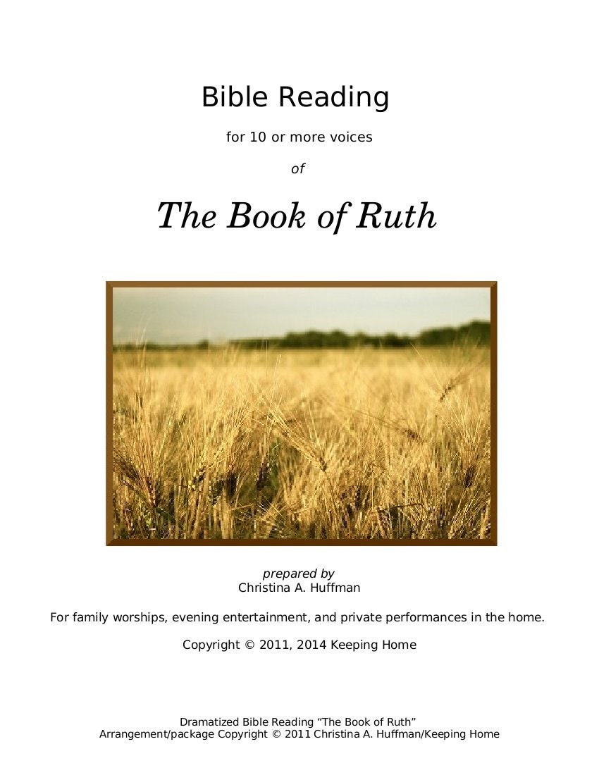 suffering in the book of ruth essay This short essay shows seven examples of covenant loyalty in the book of ruth ways in which god can bring us great glory even through suffering and.